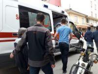 Akülü bisikletten düşen çocuk yaralandı