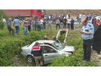 Otomobil kanala uçtu: 1 ölü, 3 yaralı