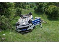Kütahya'da polis aracı devrildi: 2 yaralı