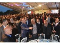 Şimşek, Soylu ve Özlü ilk iftarını Trabzonlularla açtı