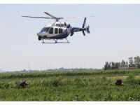 Droneli, helikopterli film gibi uyuşturucu operasyonu