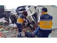 Tanker ve kamyon kafa kafaya çarpıştı: 1 ölü, 2 yaralı