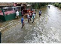 Sri Lanka ve Doğu Hindistan'da sel