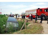 Manisa'da minibüs şarampole uçtu: 3 yaralı