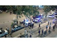 Ceza yazılan motosiklet sürücüsü ile polis arasında gerginlik