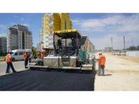 3. Çevre Yolunun batı kısmında asfalt ve kaldırım çalışması yapılıyor