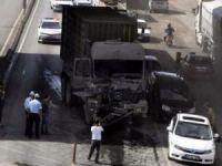 Askeri konvoyda kaza: 1 asker yaralandı