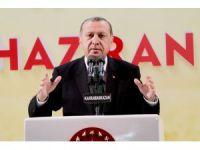 """Erdoğan: """"Ey Kılıçdaroğlu senin bu adamının yaptığı açıklamayı ispatlayamazsanız alçaksınız namustan yoksunsunuz"""""""
