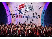 Fatih Sultan Mehmet Vakıf Üniversitesinde mezuniyet heyecanı