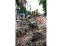 Taşköprü'de Sümer Mahallesi'nde havai elektrik hatları yer altına alınıyor