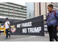Güney Kore'de THAAD füze sistemi protesto edildi