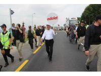 Kılıçdaroğlu 'Adalet yürüyüşü'nün 12. Gününü tamamladı