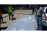 Ahlat'ta engelliler için park alanı oluşturuldu