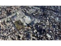 El Nuri Camisi'ndeki yıkım havadan görüntülendi