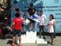Süleymanpaşalı sporcu Çanakkale Boğazı'ndan madalya ile döndü