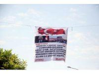 Cumhurbaşkanı aşkı pankart astırdı, polis alarma geçti