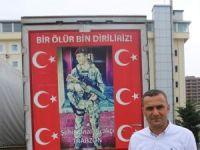 Tunceli'de Türk bayrağı asarken teröristlerin taciz ateşine uğrayan Abdullah Özer o anları anlattı
