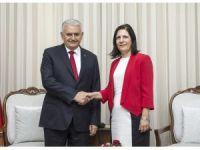 Başbakan Yıldırım, KKTC Meclis Başkanı Siber ile görüştü