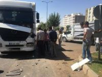 Siverek'te maddi hasarlı kaza