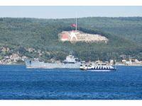 Rus çıkarma gemisi boğazdan geçti
