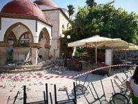 Kos Adası'ndaki Defterdar İbrahim Efendi Camii'nde büyük hasar