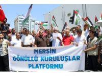 Mescid-i Aksa'nın ibadete kapatılması Mersin'de protesto edildi