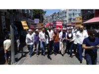 Bayrampaşa'da gençler, Mescid-i Aksa için yürüdü