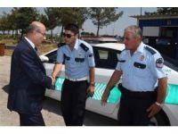 Vali Demirtaş, İncirlik Polis Uygulama Noktasını denetledi