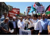 Kayseri'deki Kudüs protestolarında İsrail bayrağı yaktılar