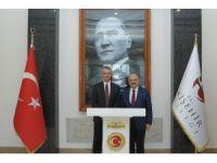 Kanada'nın Ankara Büyükelçisi Cooter, Vali Çakacak'ı makamında ziyaret etti