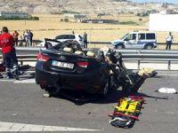 Otomobil TIR'a arkadan çarptı: 4 ölü
