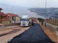 Körfez'de asfalt çalışmaları devam ediyor