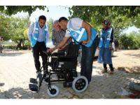 Ekinci'den bedensel engelli gence akülü sandalye
