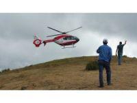 Yamaç paraşütü gösterisinde kaza