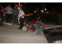 Tırla motosiklet çarpıştı : 1 yaralı