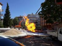 Başkent'te doğalgaz borusu patladı