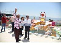 Başkan Doğan, aquaparkta incelemelerde bulundu