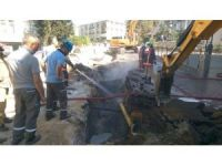 Başkent'te doğalgaz borusunun patlaması