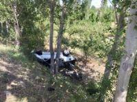 Kontrolden çıkan otomobil ağaça çarptı: 1 yaralı