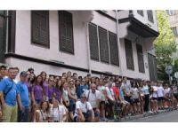 Bergamalı sporcular, Atatürk'ün doğduğu evi ziyaret etti