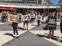 İsveç'te hayvan hakları için sessiz protesto gösterisi