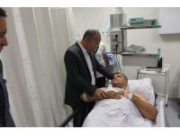 Siirt Valisi Atik yaralı askeri ziyaret etti