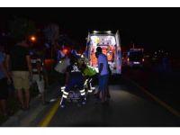 Ortaca'da motosiklet kazası; 2 yaralı