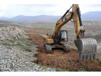 Mersin'de 3 bin metre rakımda yol yapım çalışması