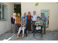 Başkan Kutlu'dan engelli kardeşlere sürpriz ziyaret