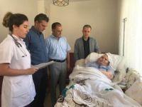 Evde sağlık hizmeti alan hastalar ziyaret edildi