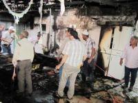 Hisarcık'taki yangın korkuttu