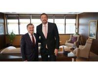 TBF Başkanı Türkoğlu, Bakan Osman Aşkın Bak'ı ziyaret etti