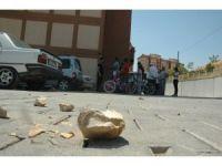 Kahramanmaraş'ta taş yağdı