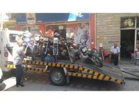 Biga'da tescilsiz motosikletler toplanıyor
